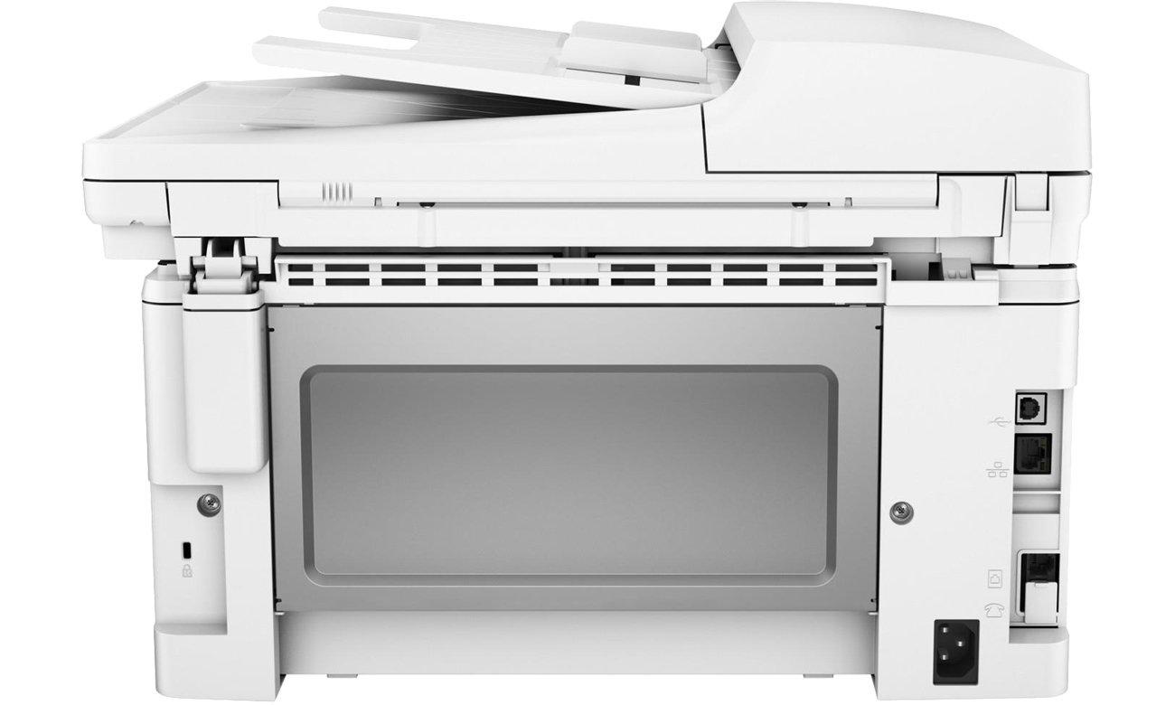 HP LaserJet Pro M130fn widok z tyłu