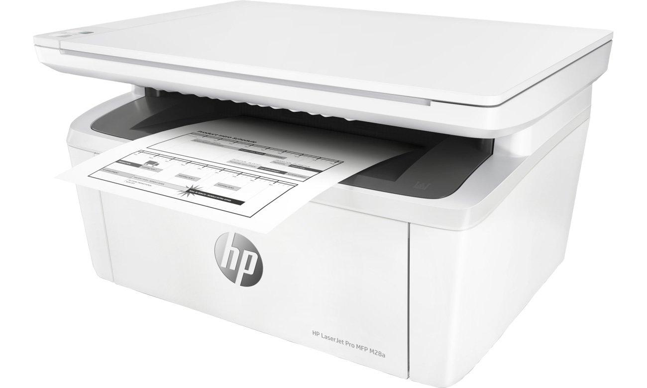 Der Drucker mit Druckgeschwindigkeiten von bis zu 18/19 Seiten/Min und vorinstallierten Business Apps HP M28a Laserdrucker W2G54A