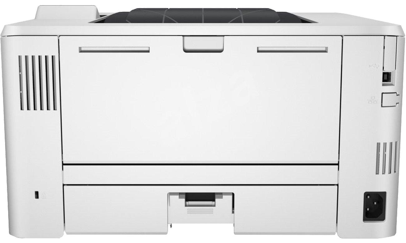 HP LaserJet Enterprise M506dn, вид сзади