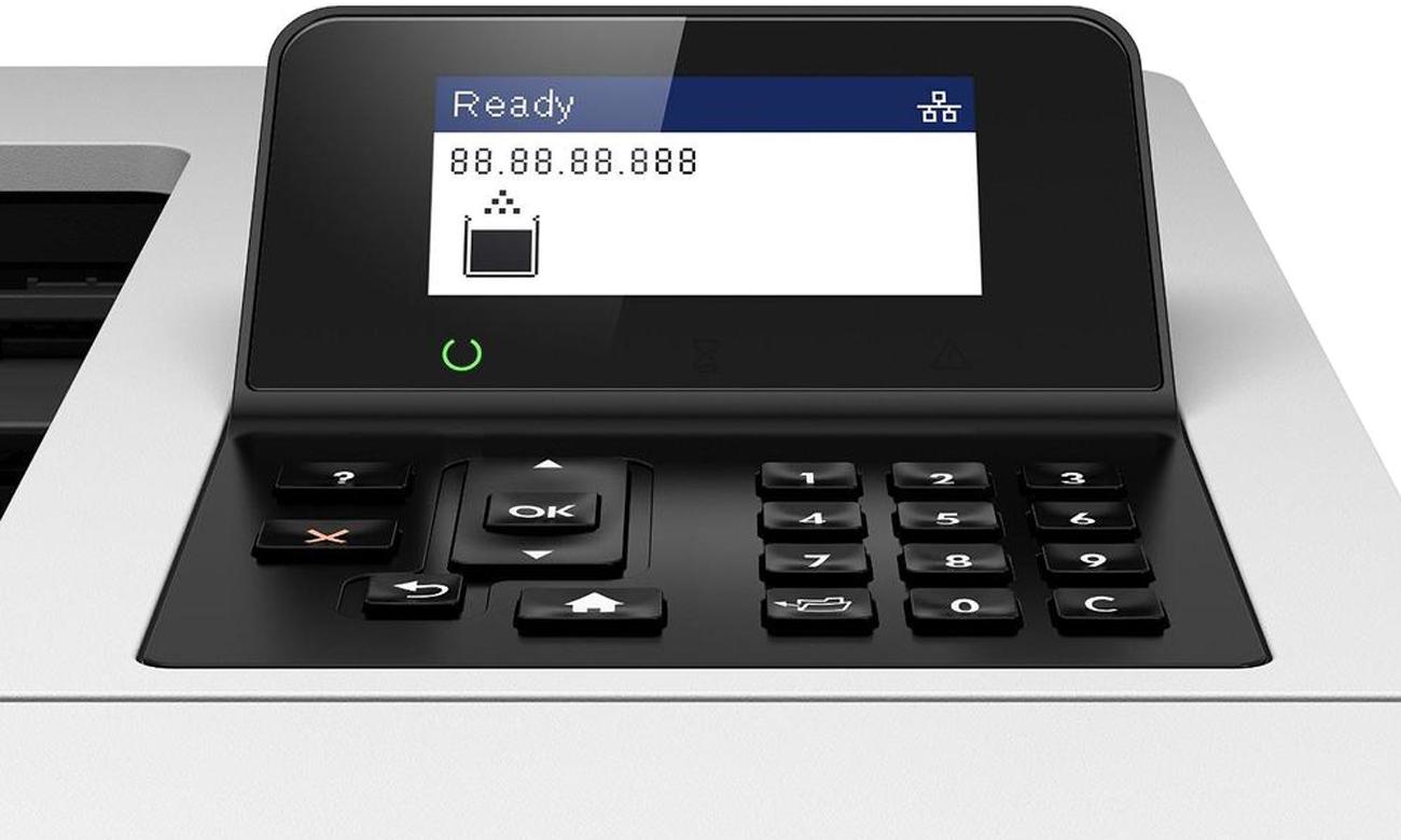 Дисплей HP LaserJet Enterprise M506dn