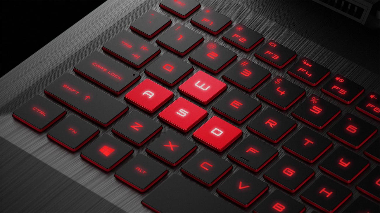 HP OMEN podświetlana klawiatura