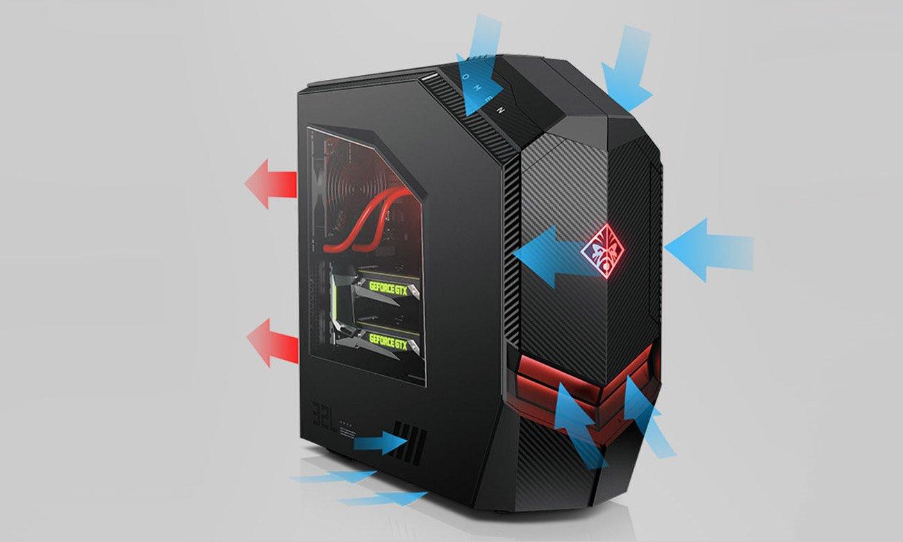 Desktop HP OMEN wydajne chłodzenie