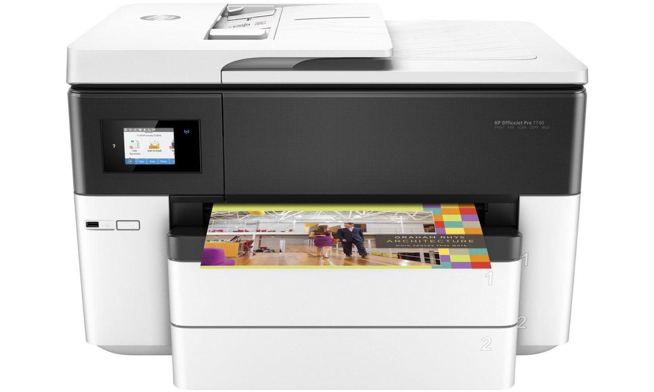 HP OfficeJet Pro 7740 widok z przodu