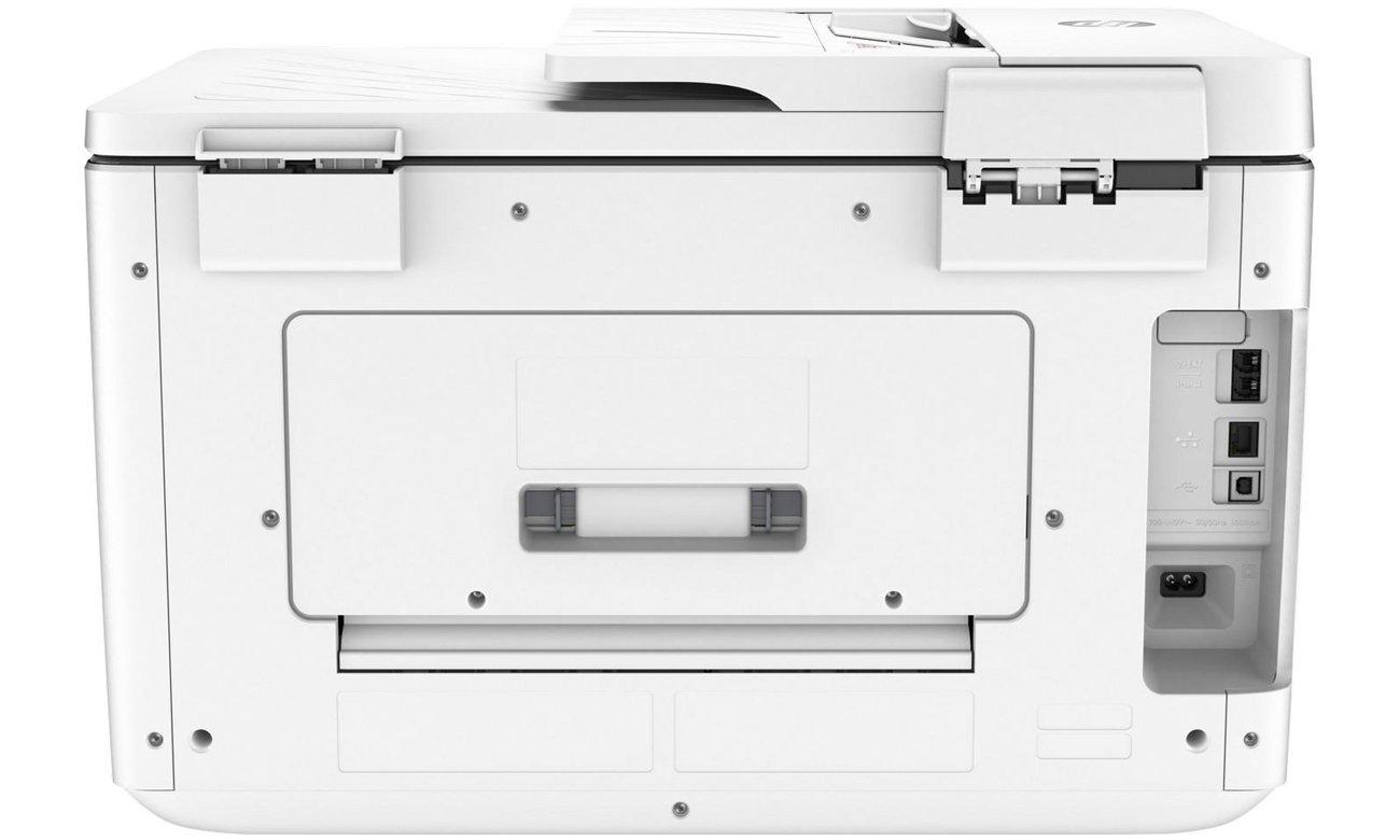 HP OfficeJet Pro 7740 widok z tyłu