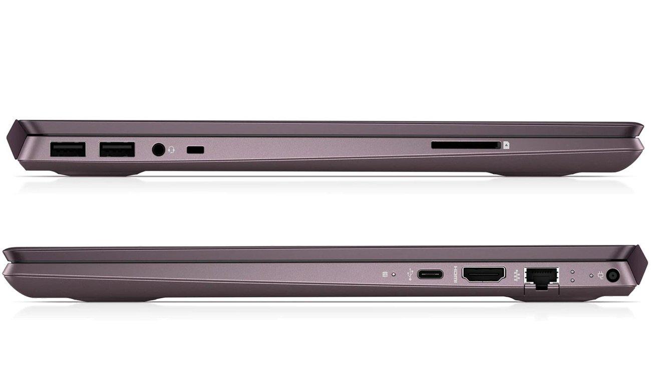 HP Pavilion Notebook 14-ce0011nw wąska ramka metalowe wykończenie nowoczesny wygląd