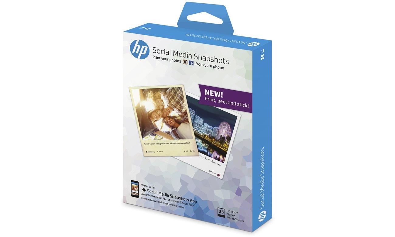 Papier fotograficzny HP Social Media Snapshots