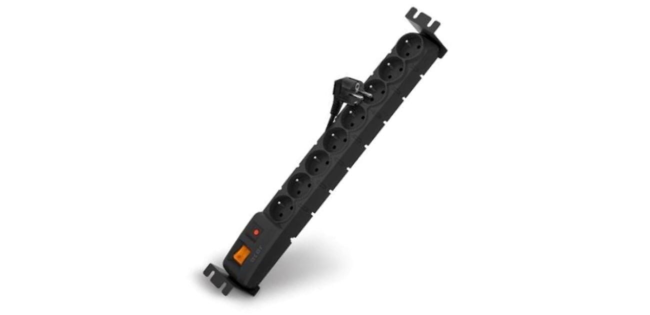 Listwa zasilająca HSK DATA Acar S8 1,5m czarna 8 gniazd