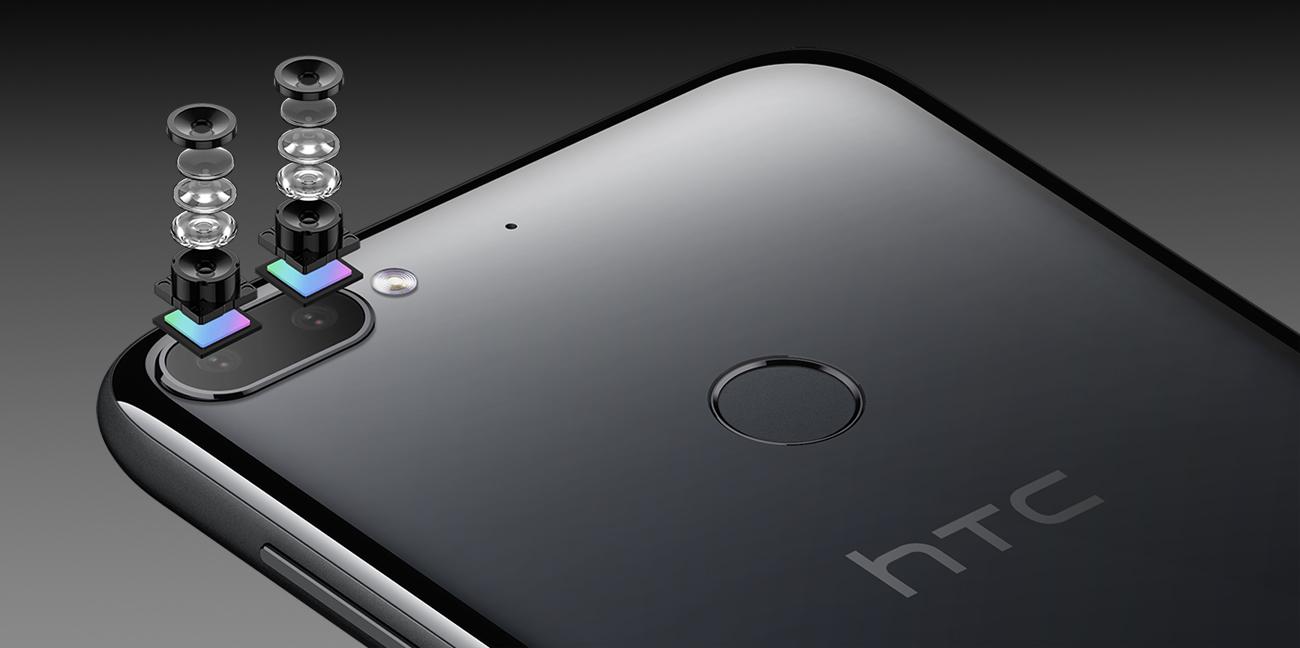 HTC Desire 12+ aparat 13 + 2 Mpix PDAF Bokeh