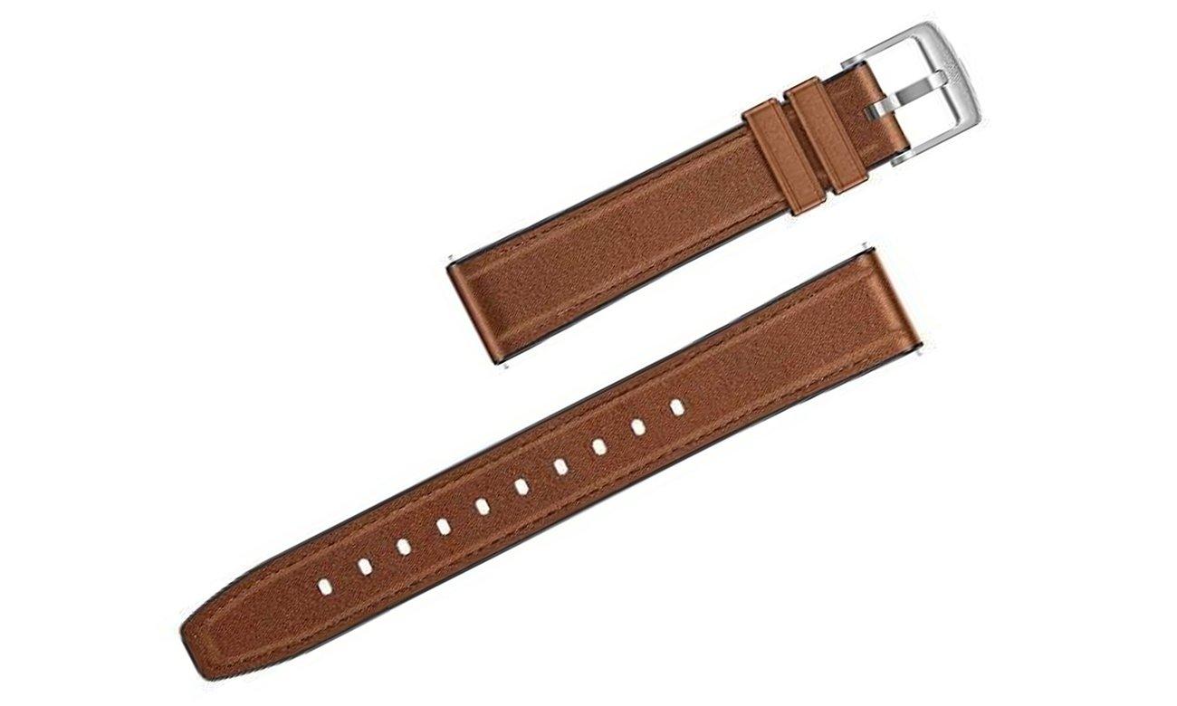 Skórzany pasek do Huawei Watch GT1 / GT 2 46 mm Ciemny brąz