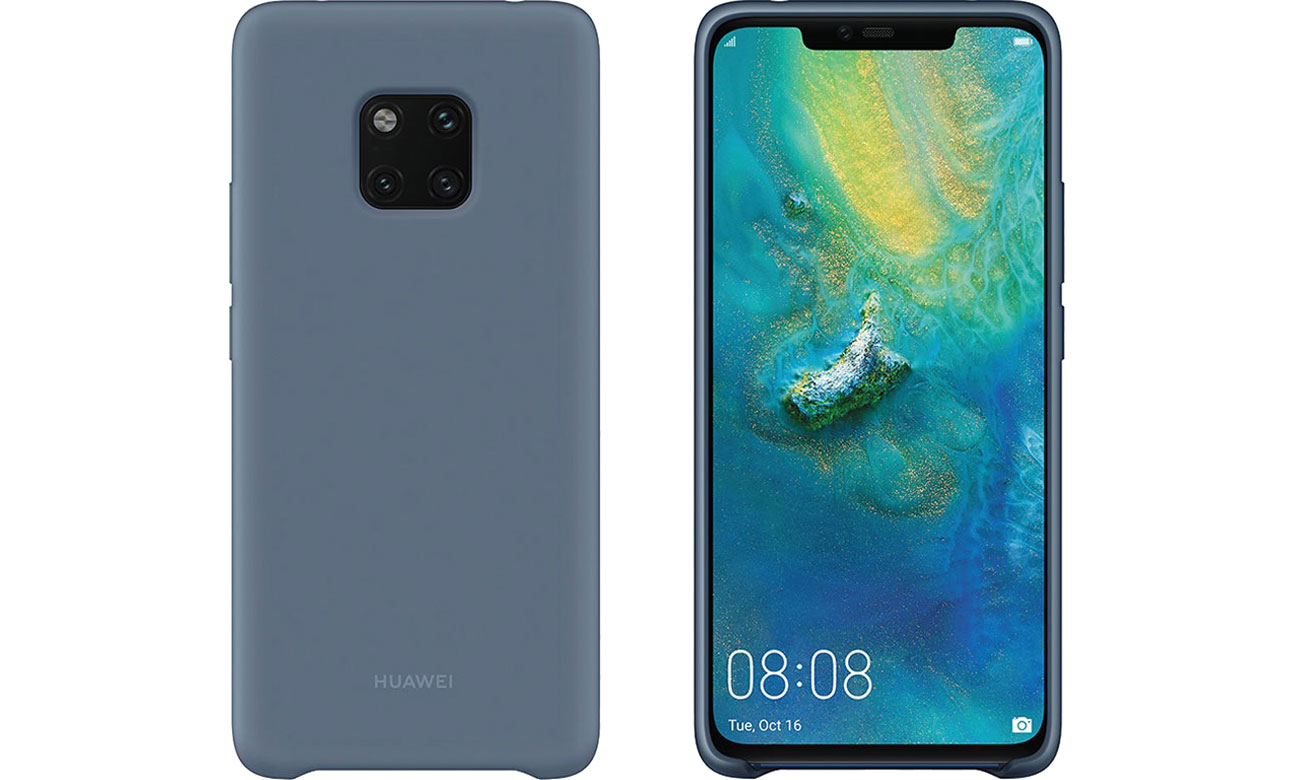 Huawei Silicon Case do Huawei Mate 20 Pro Blue 51992684
