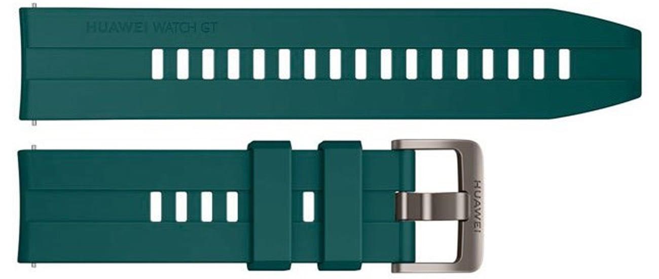 Silikonowy pasek do Huawei Watch GT1 / GT 2 46 mm Ciemnozielony