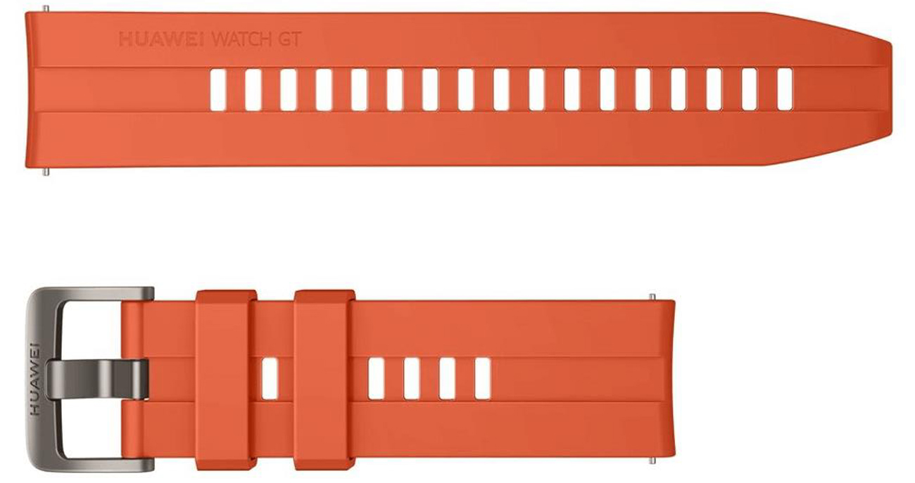 Pasek Silikonowy do Huawei Watch GT pomarańczowy 55031982