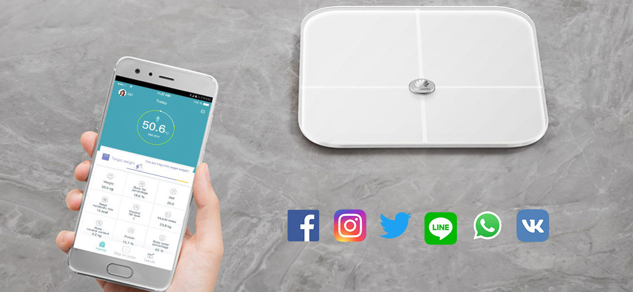 HUAWEI Smart Scale AH100 Aplikacja mobilna i Social Media