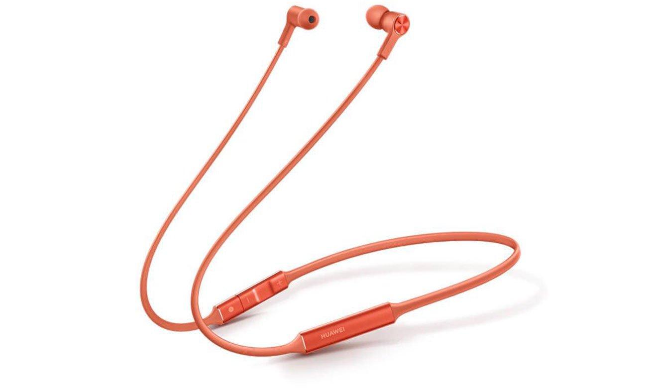 Słuchawki bezprzewodowe Huawei FreeLace pomarańczowe