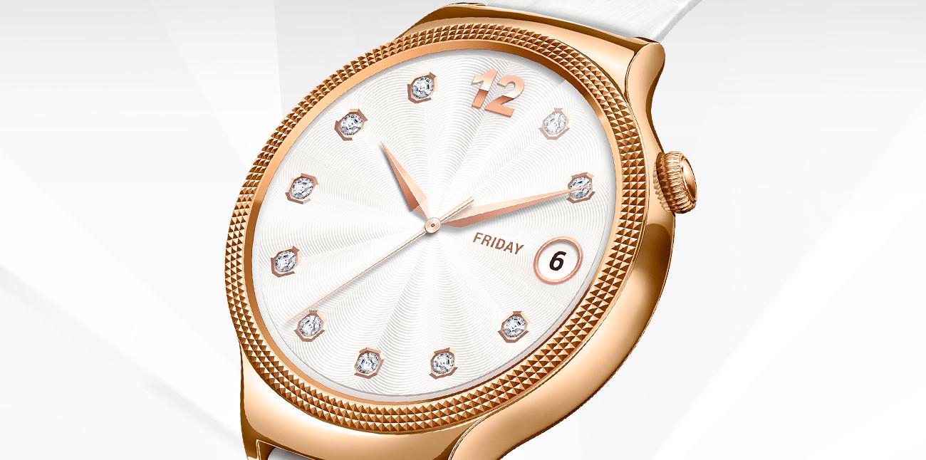 Huawei Lady Watch stalowa koperta szkło szafirowe kryształy swarovskiego