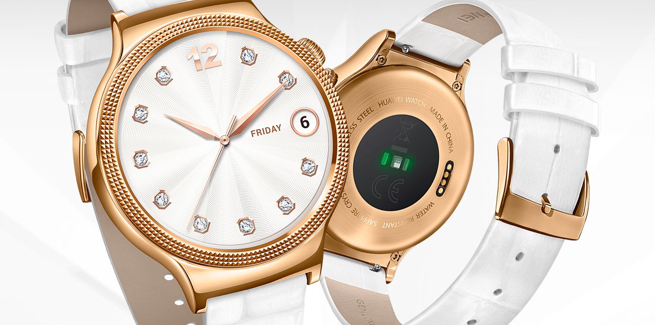 Huawei Lady Watch Golden+White leather