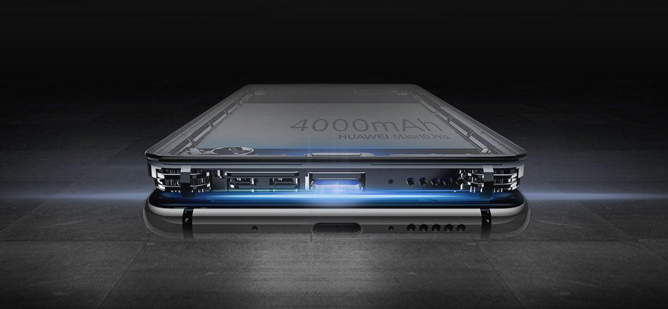 Huawei Mate 10 Pro bateria 4000 mAh Supercharge