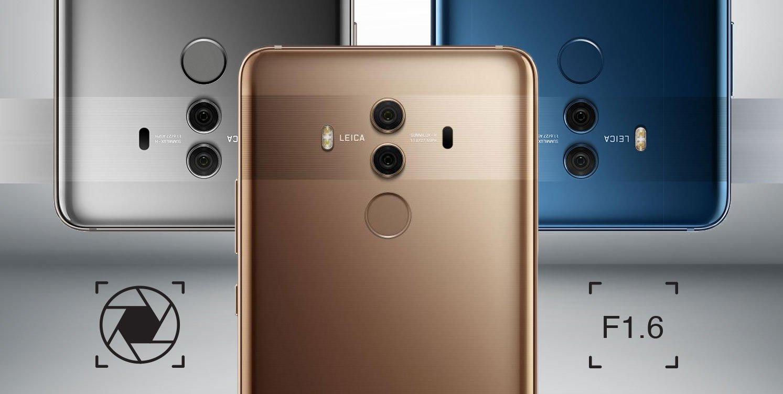 Huawei Mate 10 Pro podwójny aparat 20 + 12 Mpix Leica f/1.6