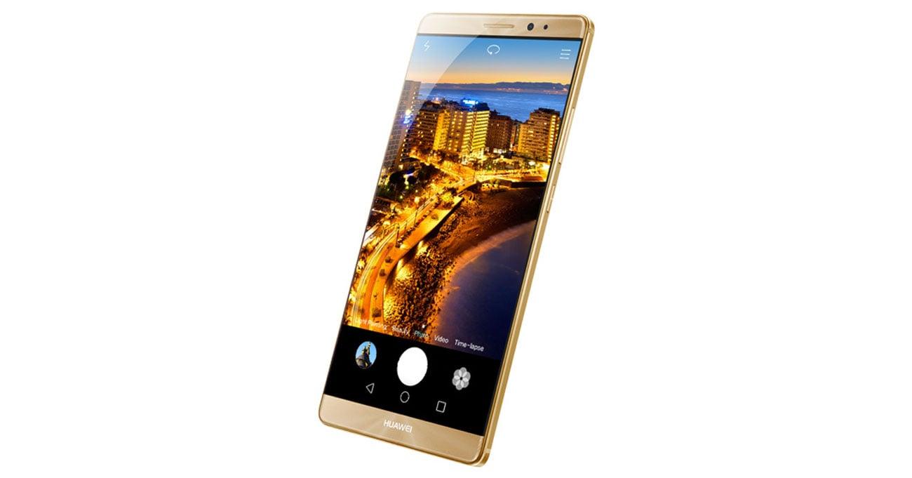srebrny Huawei Mate 8 aparat z matrycą Sony 16 mpix