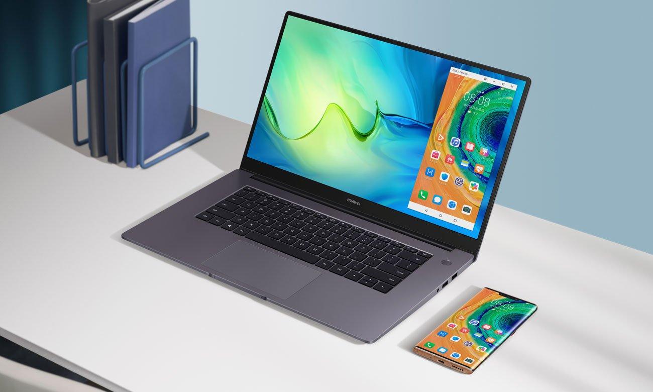 HUAWEI MateBook D 15 udostępnianie ekranu z telefonu