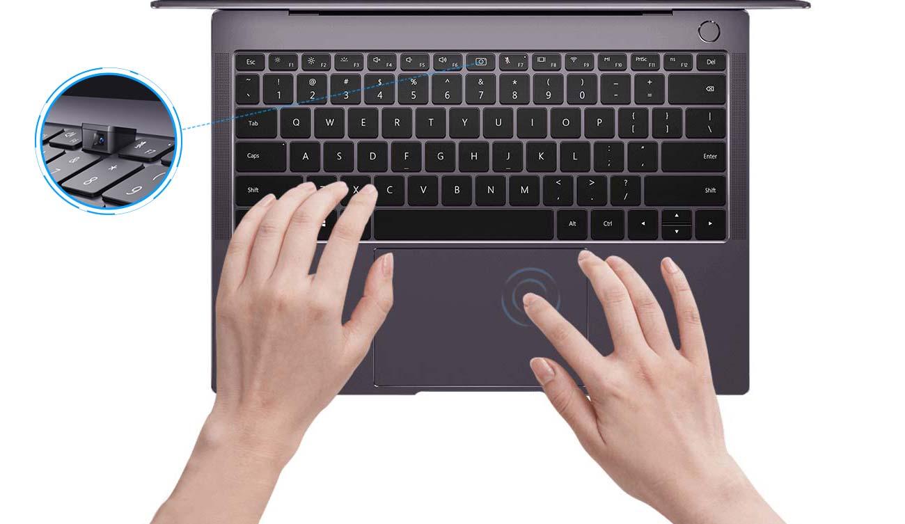 HUAWEI MateBoook X Pro zwiększony touchpad wodoodporna klawiatura podświetlana