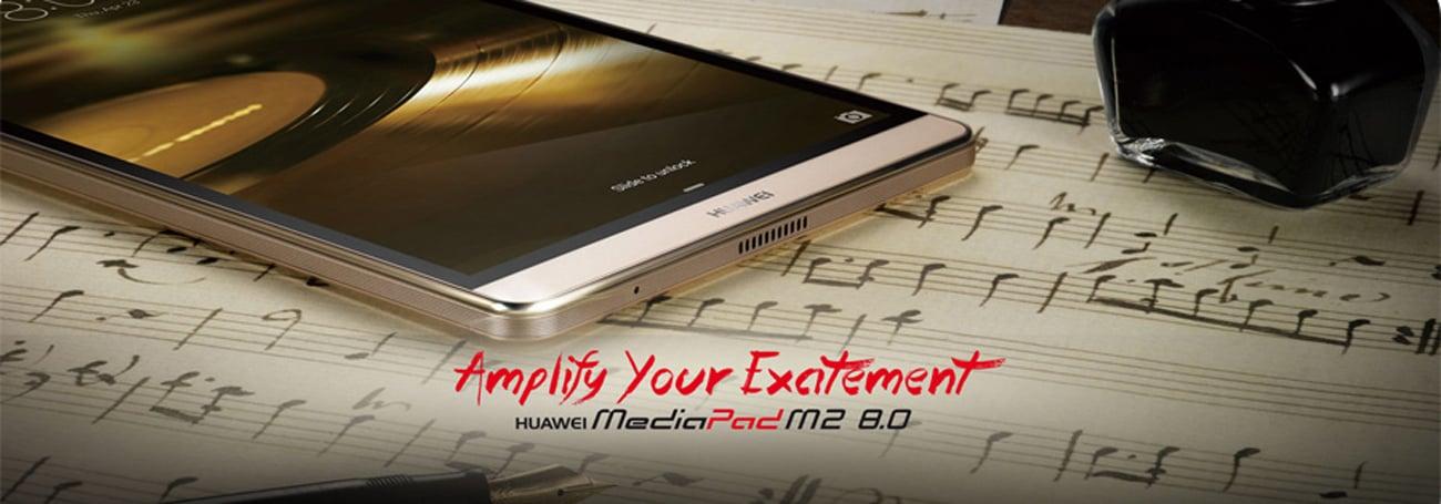 Huawei MediaPad M2 8.0 LTE White Gold smukła metalowa obudowa w kolorze złota