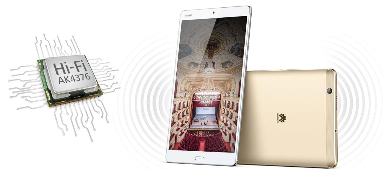 Huawei MediaPad M3 8.0 WiFi głosniki harman kardon audio AKG