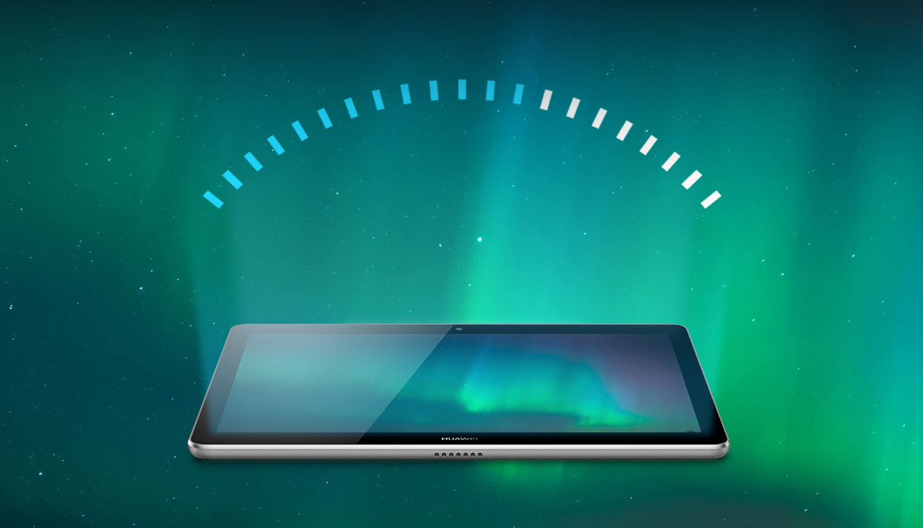 Szary Huawei MediaPad T3 10.0 WiFi filtr niebieskiego światła
