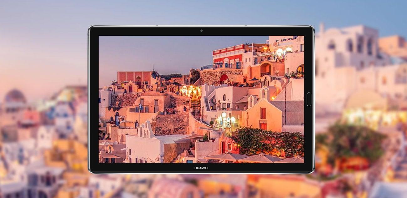 Szary Huawei MediaPad M5 LTE szklany ekran 2K