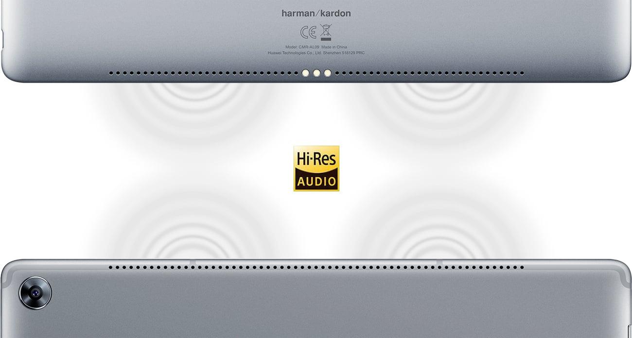 Szary Huawei MediaPad M5 LTE cztery głośniki Harman Kardon