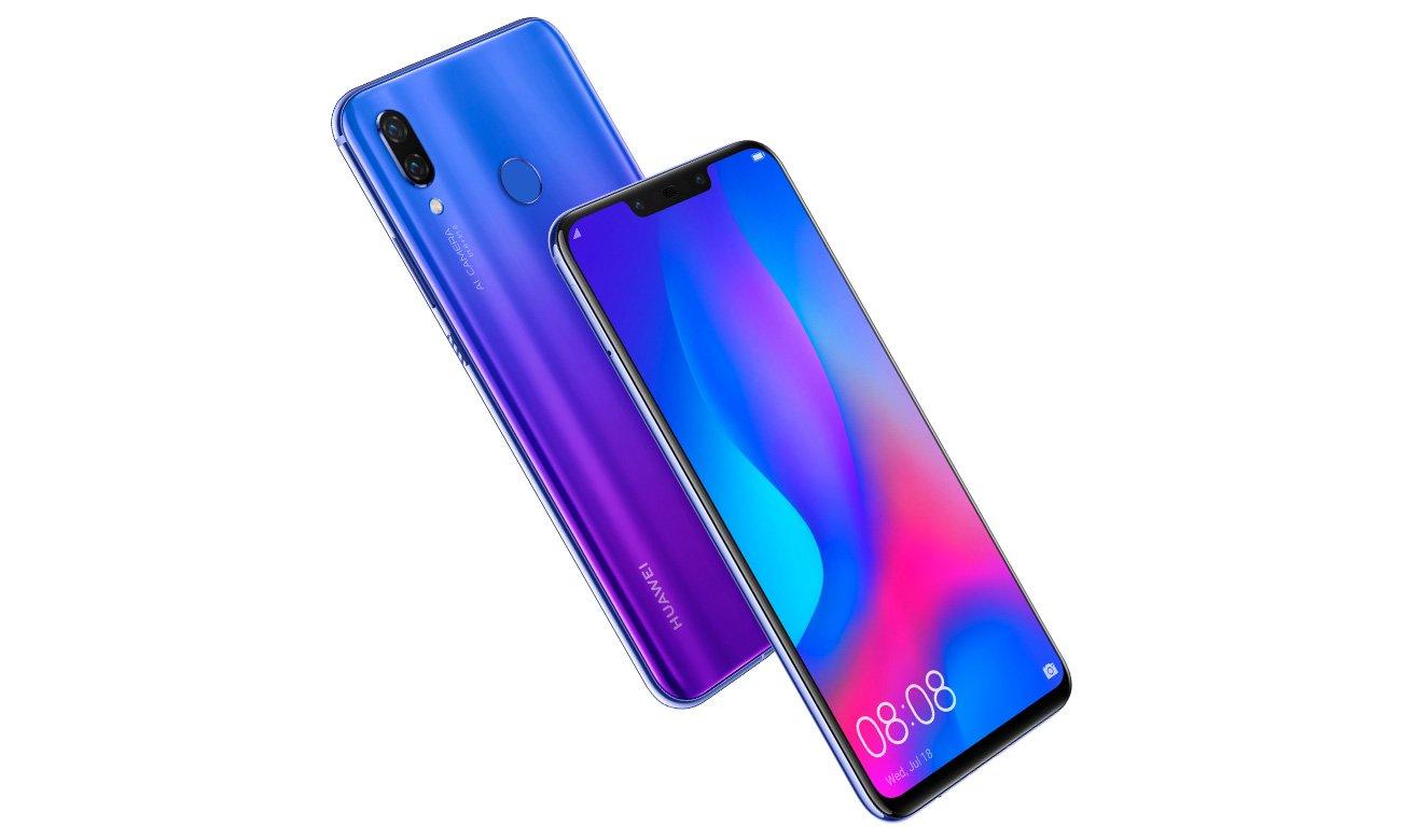 Huawei Nova 3 smukła kompaktowa obudowa