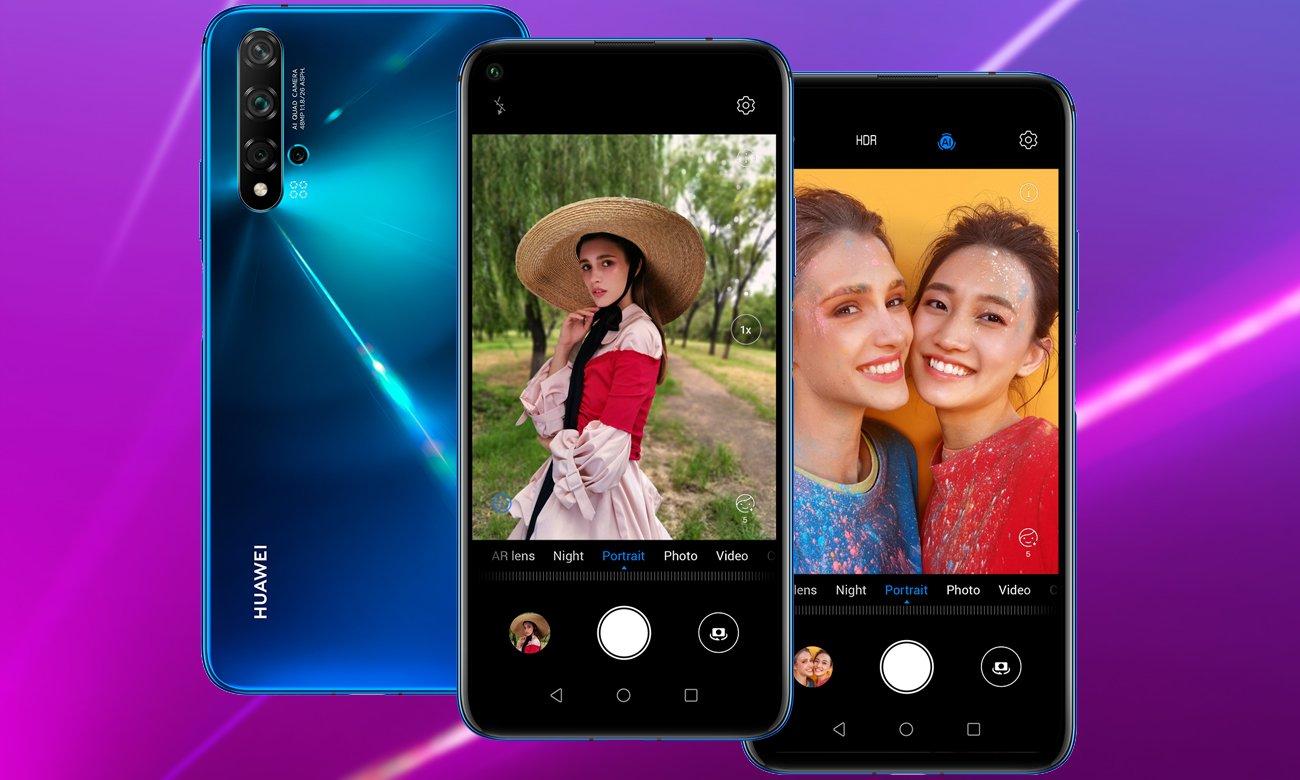 HUAWEI Nova 5T nocne selfie AI 32 mpix