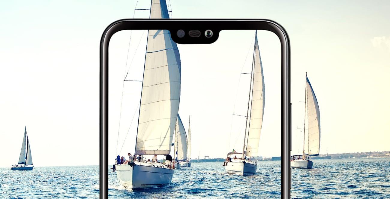 Huawei P20 Lite podwójny aparat 16 + 2 Mpix bokeh