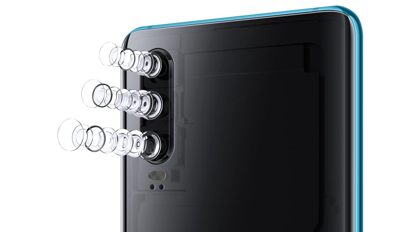 Huawei P30 potrójna kamera leica