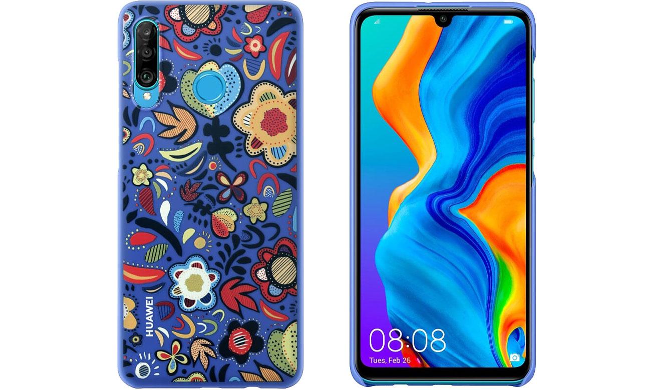 Etui Huawei Plecki Dekoracyjne do Huawei P30 Lite Flower Blue