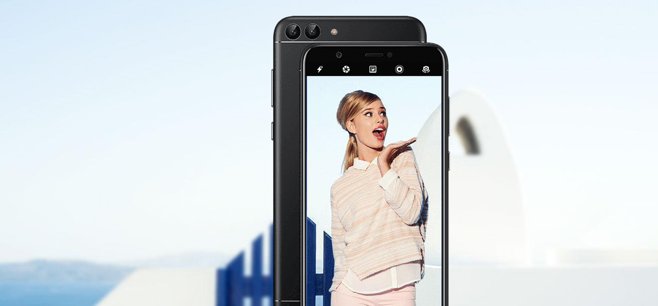 Huawei P Smart aparat 13 + 2 mpix bokeh