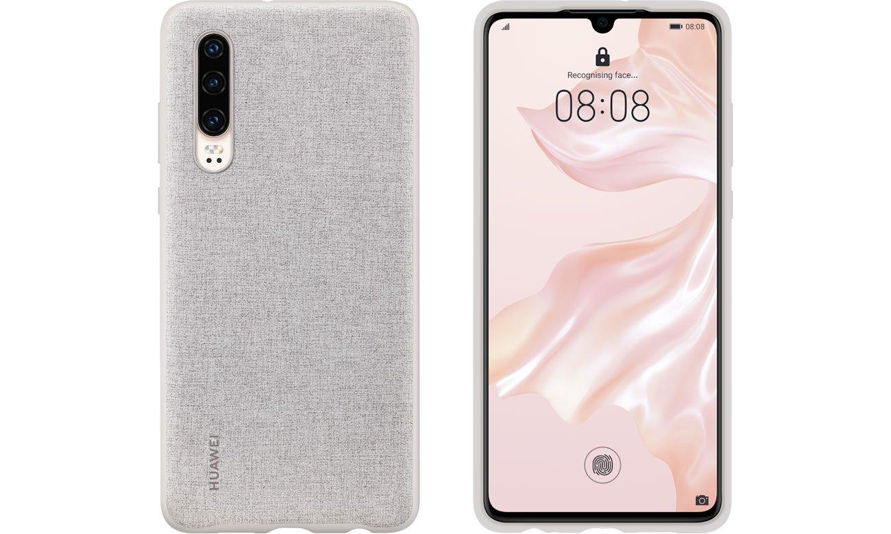 Etui Huawei Plastikowe Plecki do Huawei P30 szary