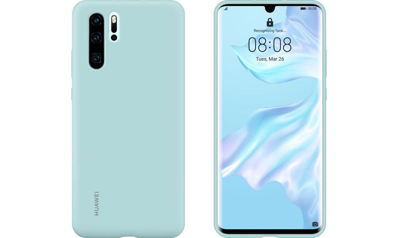 Etui Huawei Silicone Case do Huawei P30 Pro jasny niebieski