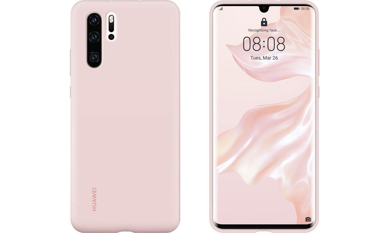 Etui Huawei Silicone Case do Huawei P30 Pro różowy