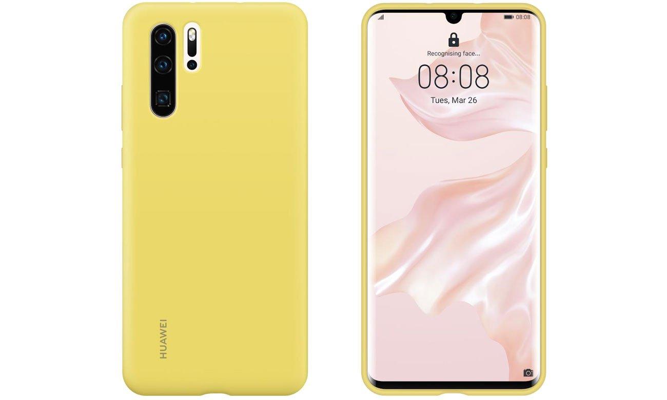 Etui Huawei Silicone Case do Huawei P30 Pro żółty