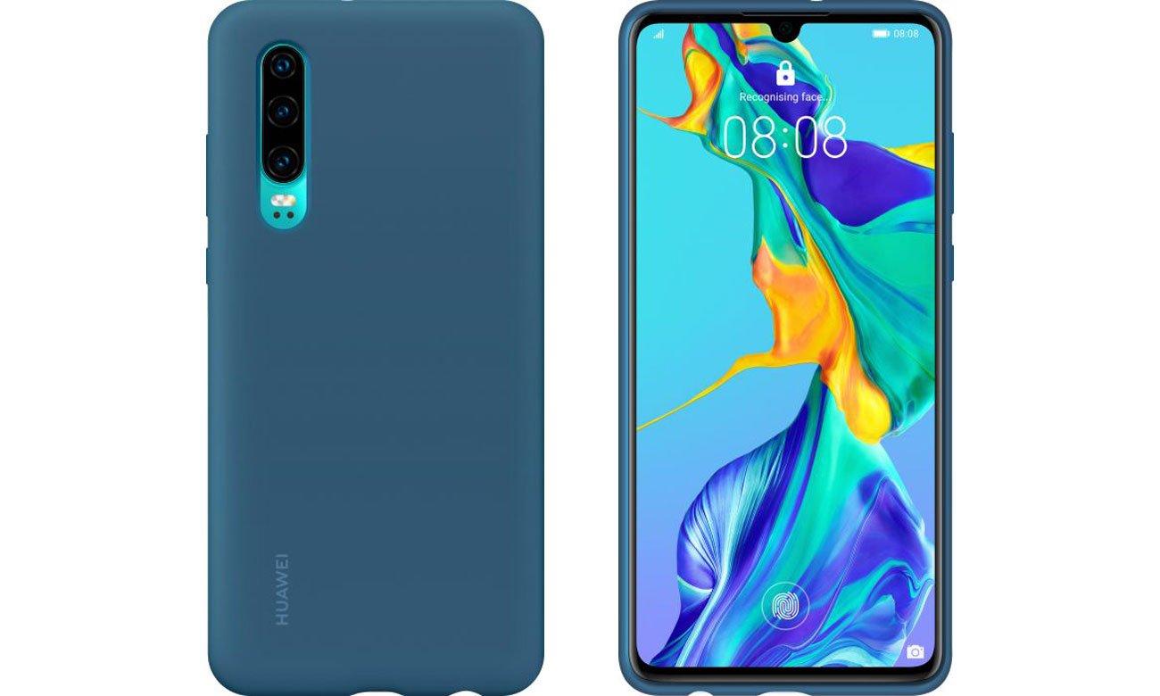 Etui Huawei Silicone Case do Huawei P30 niebieski
