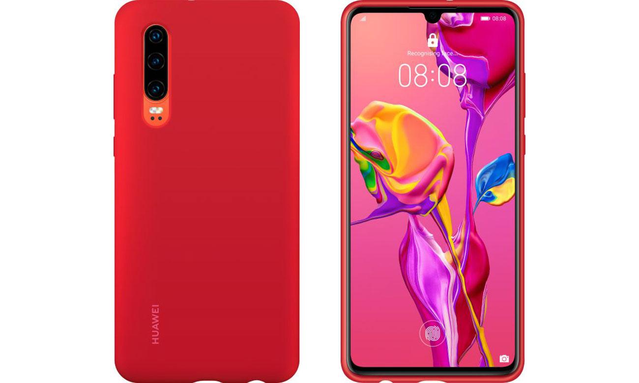 Etui Huawei Silicone Case do Huawei P30 czerwony