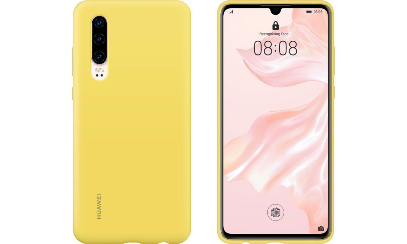 Etui Huawei Silicone Case do Huawei P30 żółty
