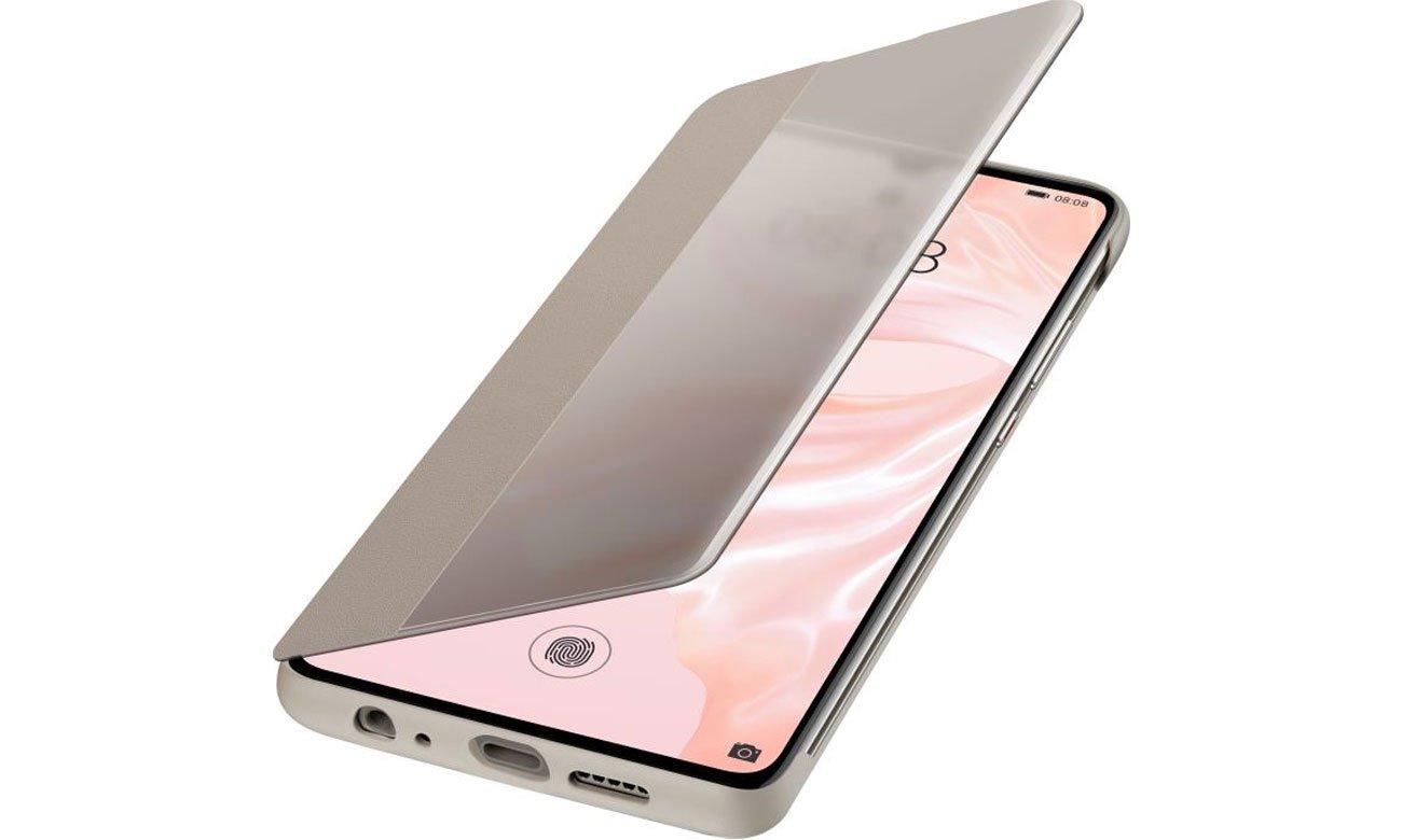 Etui Huawei Smart View Flip Cover do Huawei P30 khaki