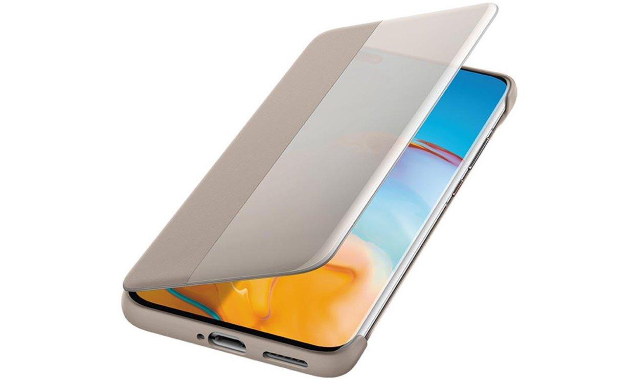 Etui Smart View Flip Cover do Huawei P40 Pro Khaki