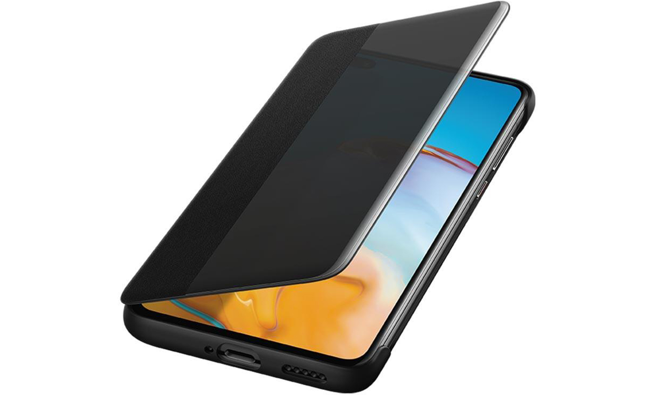 Etui Smart View Flip Cover do Huawei P40 Czarne