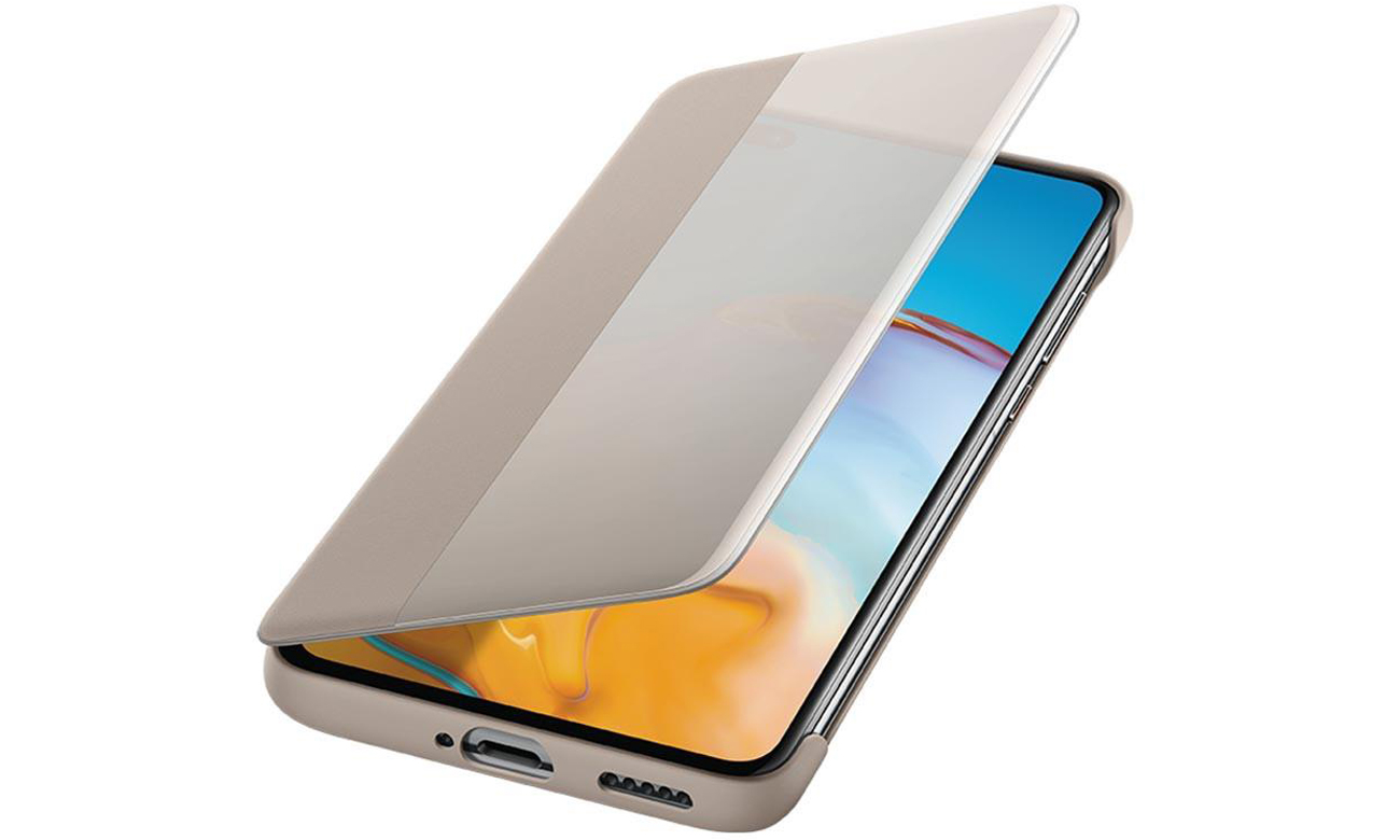 Etui Smart View Flip Cover do Huawei P40 Khaki
