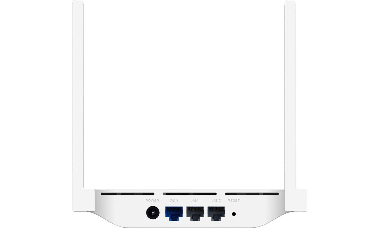Huawei WS318N - Widok z tyłu, złącza