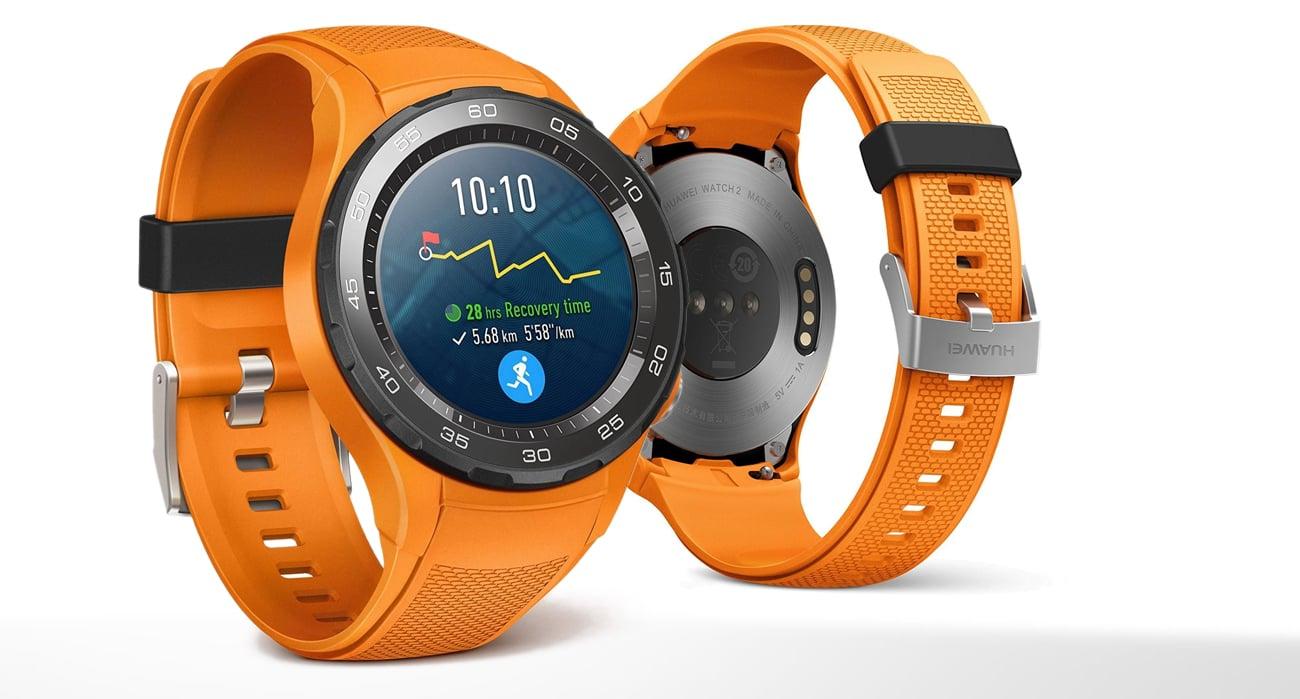 pomarańczowy Huawei Watch 2 Sport LTE ceramiczna koperta