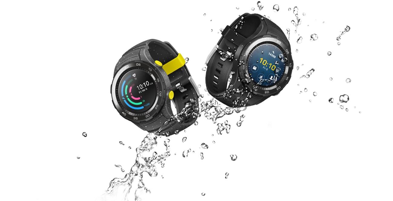Huawei Watch 2 Sport LTE odporność na wode i kurz IP68